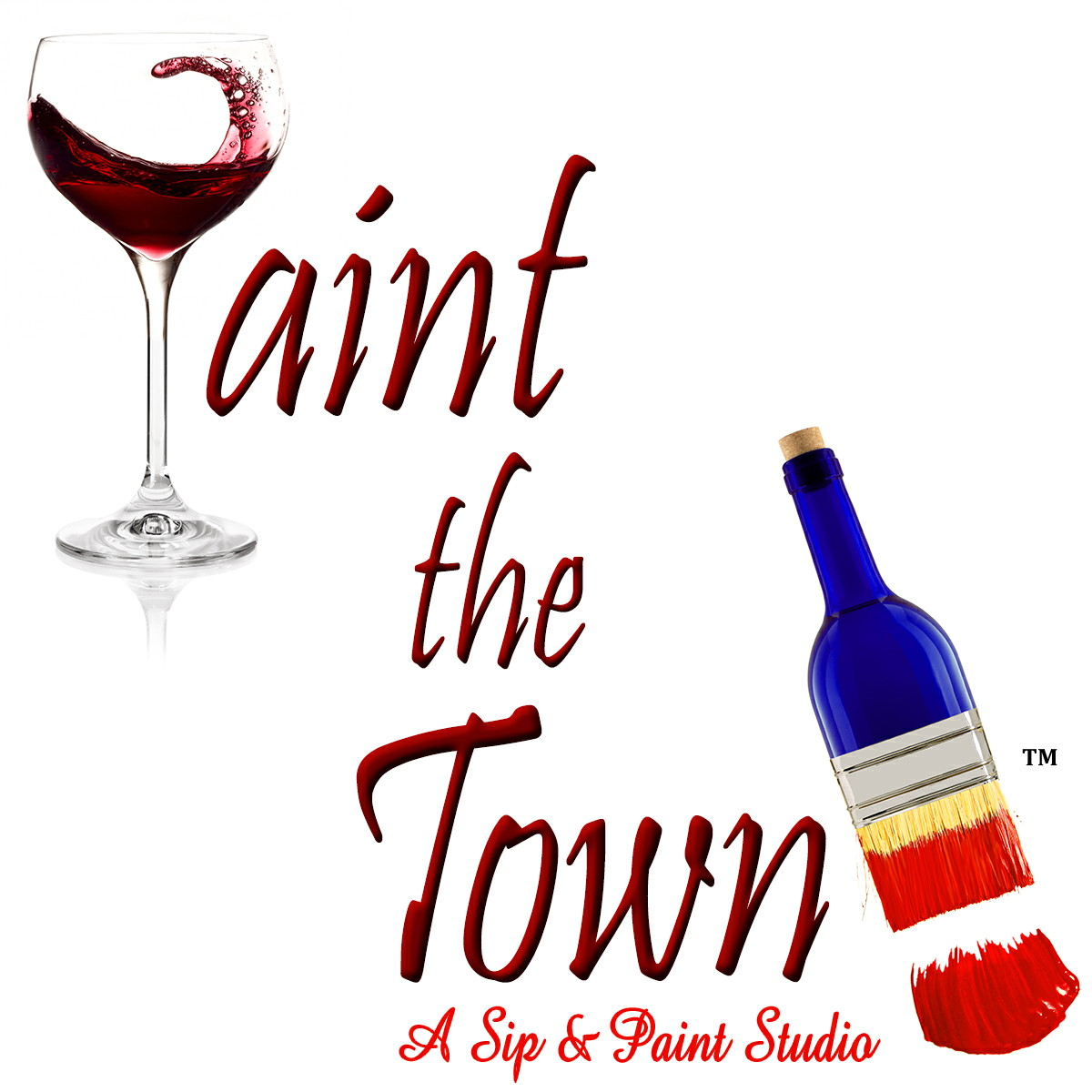 Paint The Town Studios LLC | Cranston, RI-A Rhode Island sip paint and wine studio